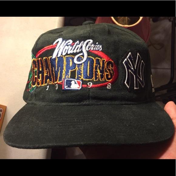 96c0f3e04a9 1998 Yankees World Series Champions Hat. M 5b25ba4e035cf139a93f9b89. Other  Accessories ...